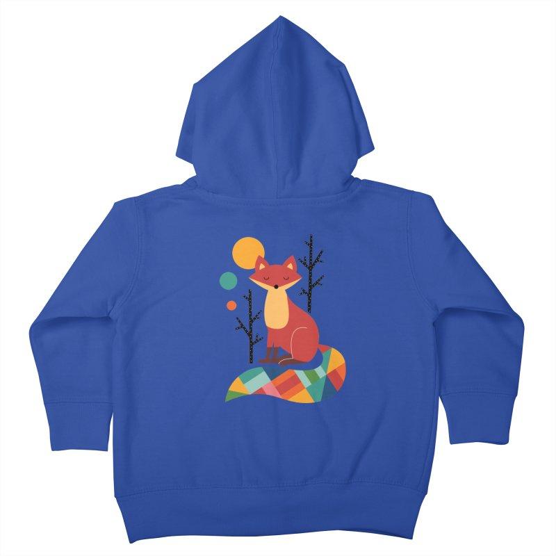 Rainbow Fox Kids Toddler Zip-Up Hoody by andywestface's Artist Shop