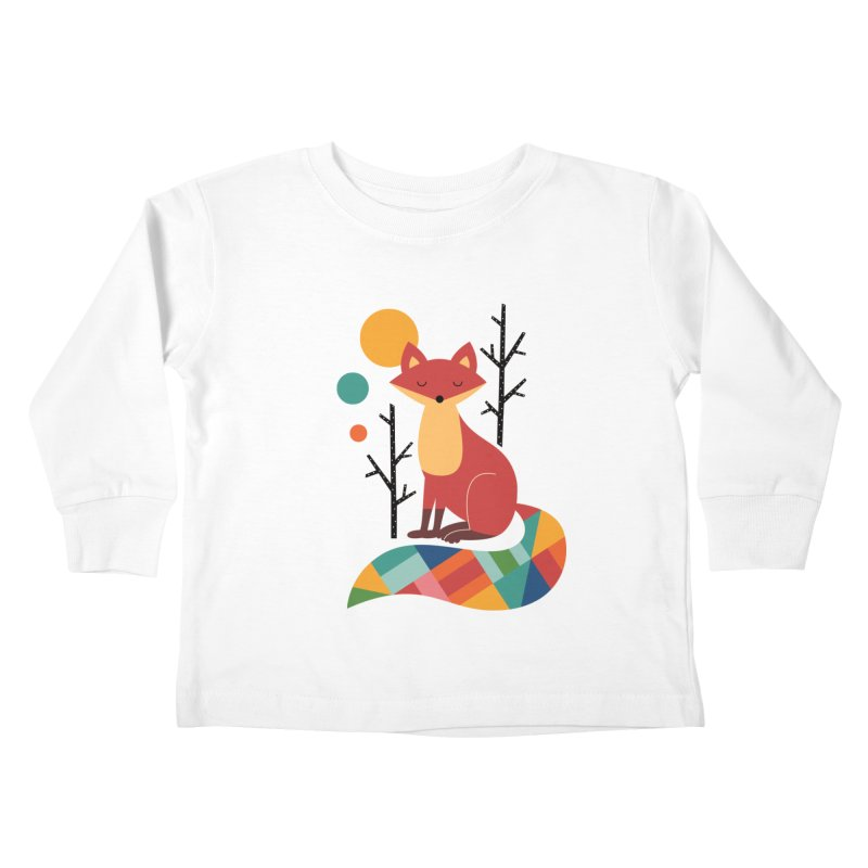 Rainbow Fox Kids Toddler Longsleeve T-Shirt by andywestface's Artist Shop