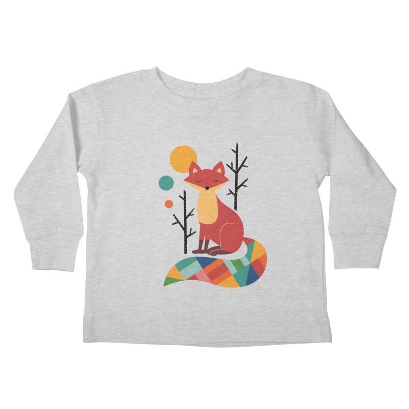 Rainbow Fox Kids Toddler Longsleeve T-Shirt by andywestface's Artist Shop