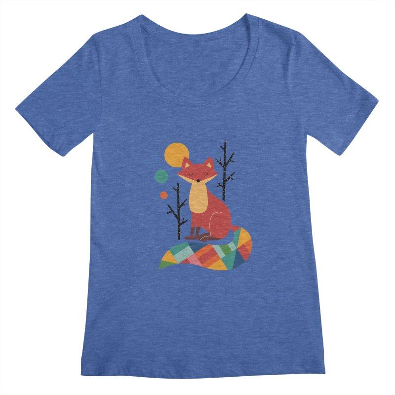Rainbow Fox Women's Scoopneck by andywestface's Artist Shop