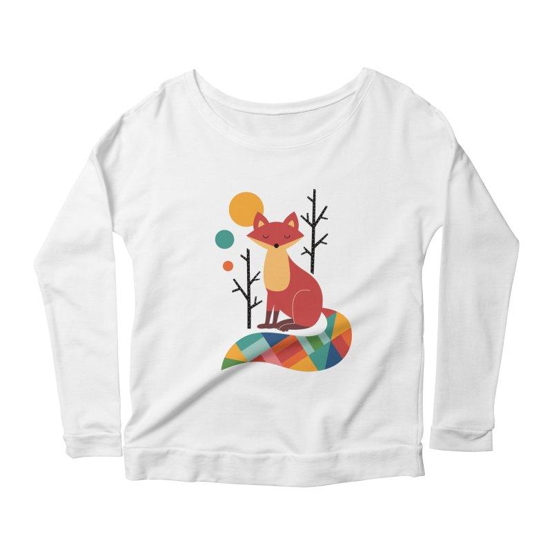 Rainbow Fox Women's Longsleeve Scoopneck  by andywestface's Artist Shop