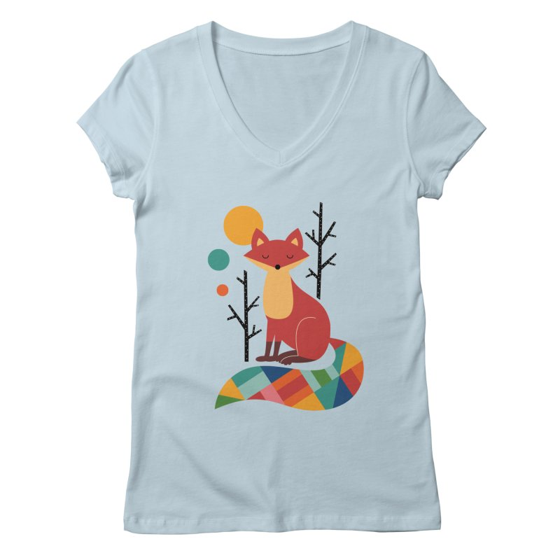 Rainbow Fox Women's V-Neck by andywestface's Artist Shop