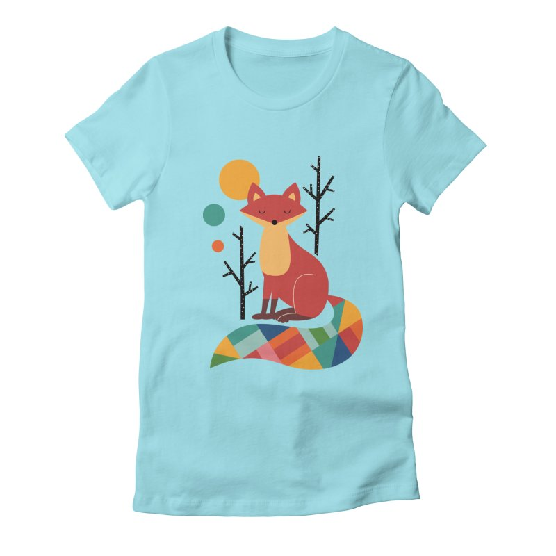 Rainbow Fox Women's Fitted T-Shirt by andywestface's Artist Shop