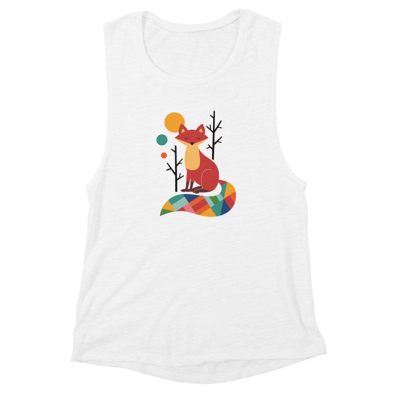 Rainbow Fox Women's Muscle Tank by andywestface's Artist Shop