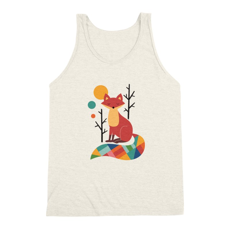 Rainbow Fox Men's Triblend Tank by andywestface's Artist Shop