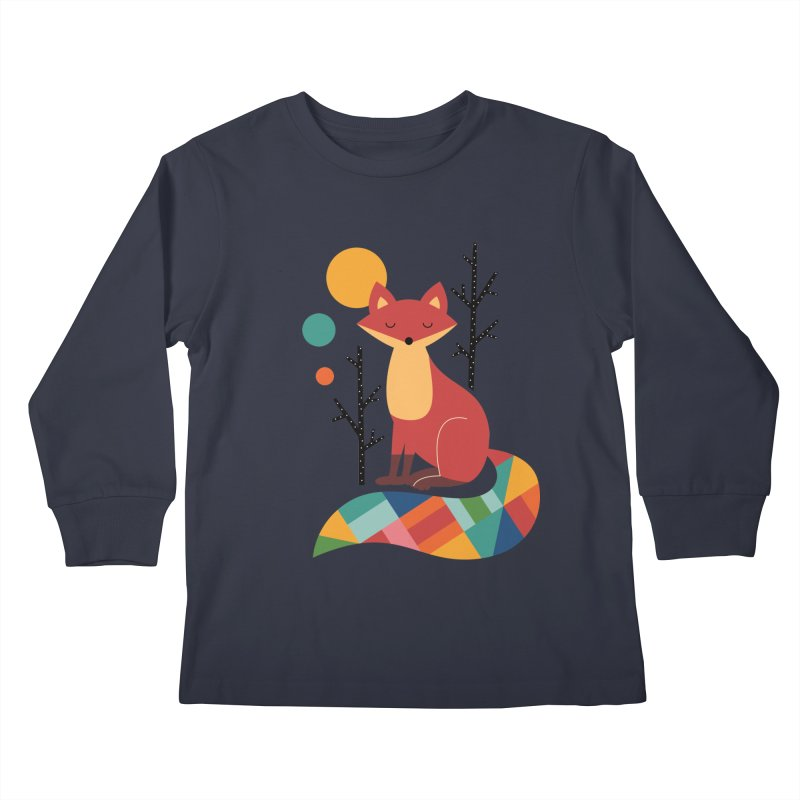 Rainbow Fox Kids Longsleeve T-Shirt by andywestface's Artist Shop