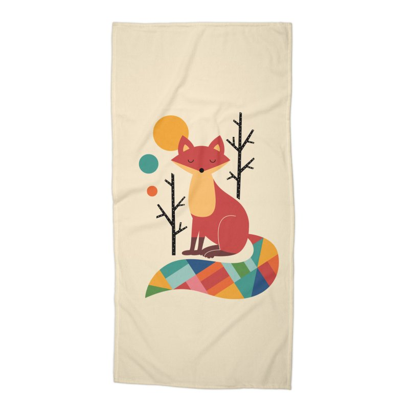 Rainbow Fox Accessories Beach Towel by andywestface's Artist Shop