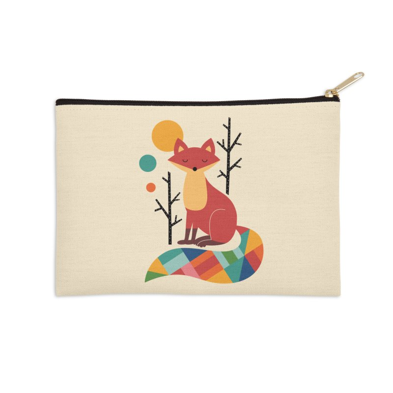 Rainbow Fox Accessories Zip Pouch by andywestface's Artist Shop