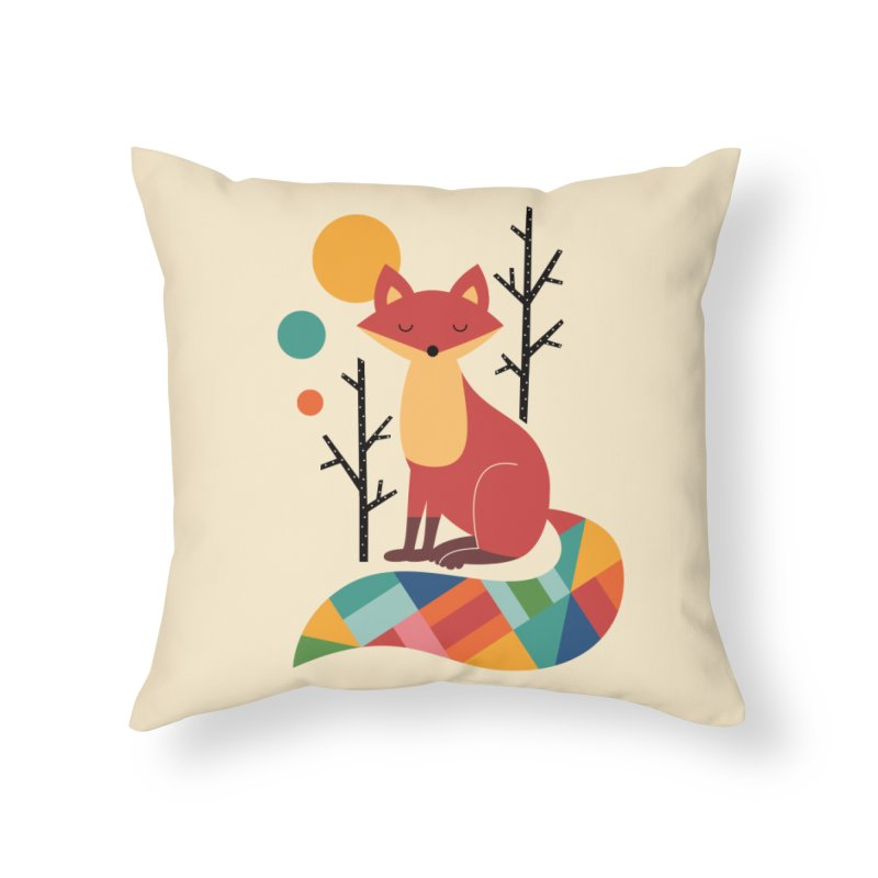 Rainbow Fox Home Throw Pillow by andywestface's Artist Shop