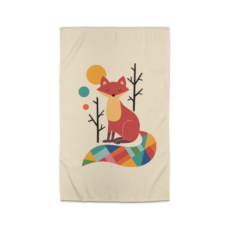 Rainbow Fox Home Rug by andywestface's Artist Shop