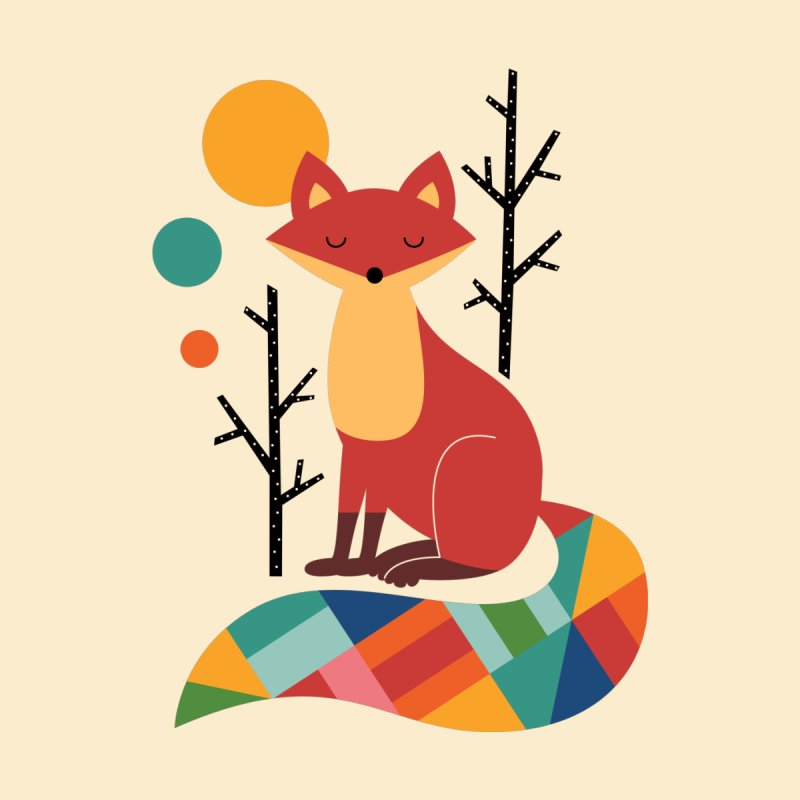 Rainbow Fox Accessories Greeting Card by andywestface's Artist Shop