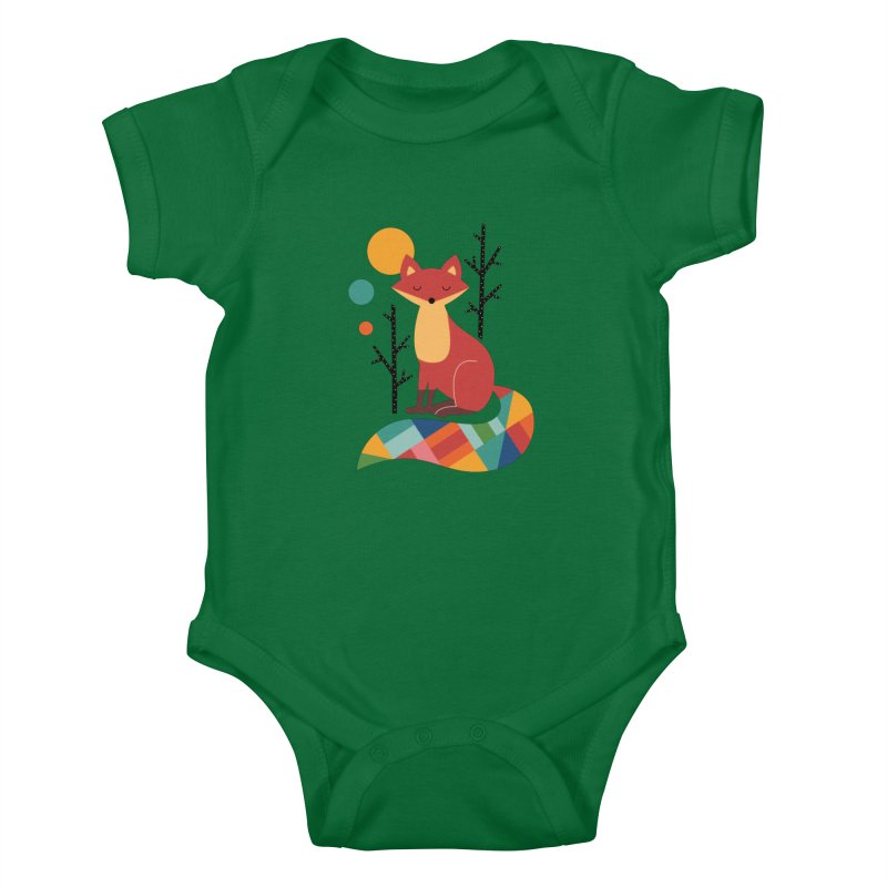 Rainbow Fox Kids Baby Bodysuit by andywestface's Artist Shop