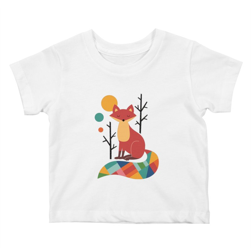 Rainbow Fox Kids Baby T-Shirt by andywestface's Artist Shop