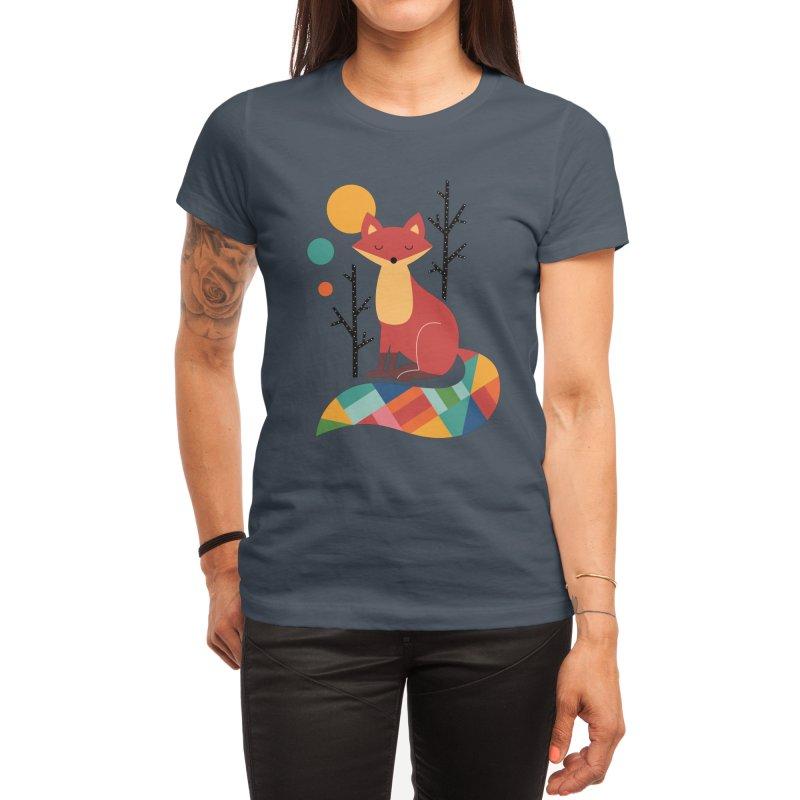 Rainbow Fox Women's T-Shirt by andywestface's Artist Shop
