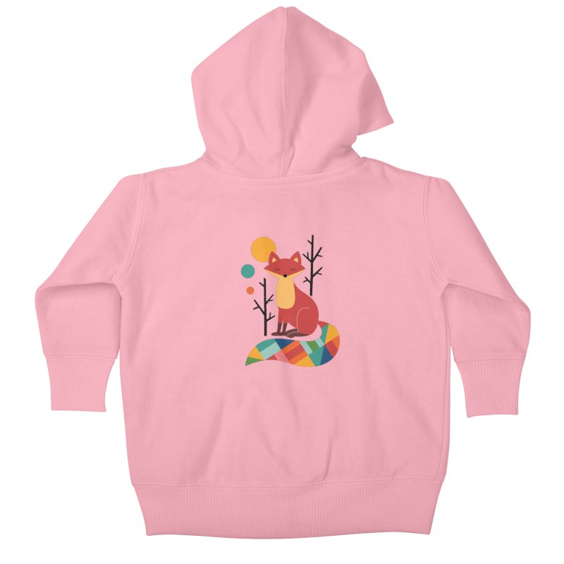 Rainbow Fox Kids Baby Zip-Up Hoody by andywestface's Artist Shop