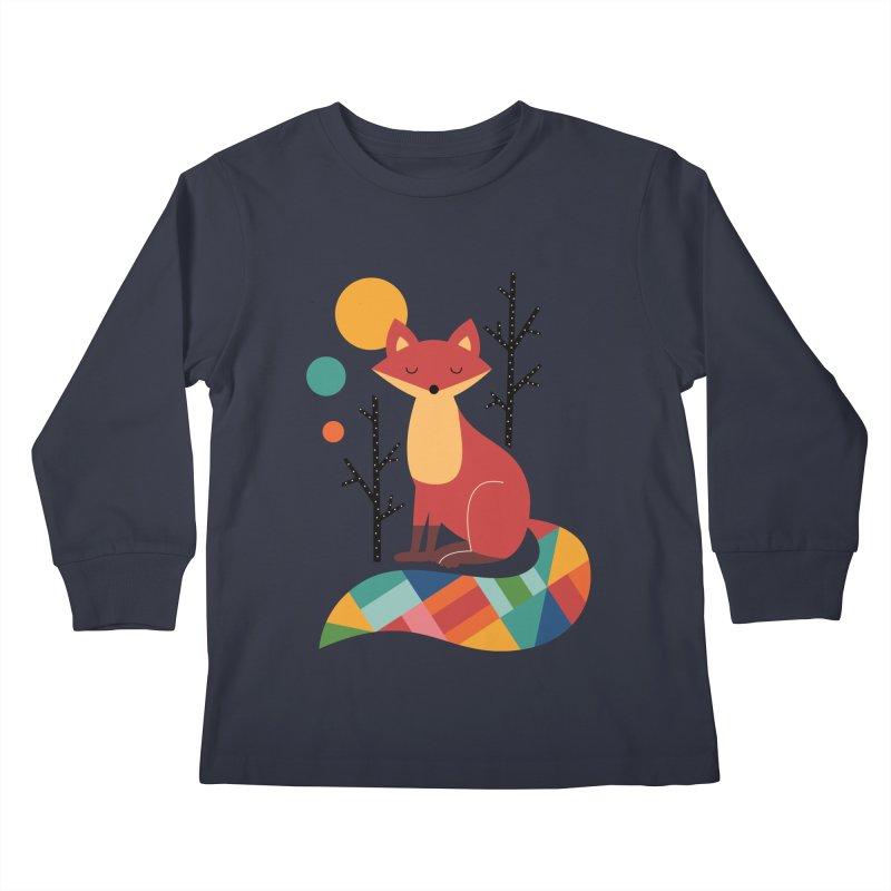 Rainbow Fox Kids Longsleeve T-Shirt by andywestface's Artist Shop