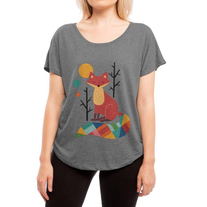 Rainbow Fox Women's Scoop Neck by andywestface's Artist Shop
