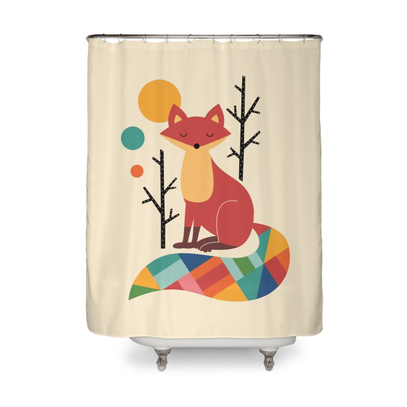 Rainbow Fox Home Shower Curtain by andywestface's Artist Shop