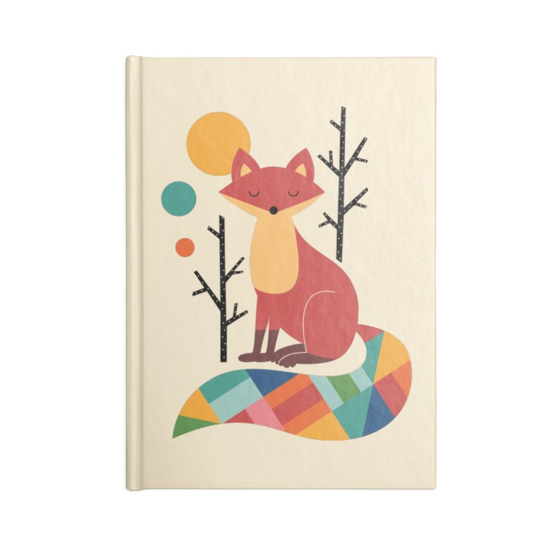 Rainbow Fox Accessories Notebook by andywestface's Artist Shop