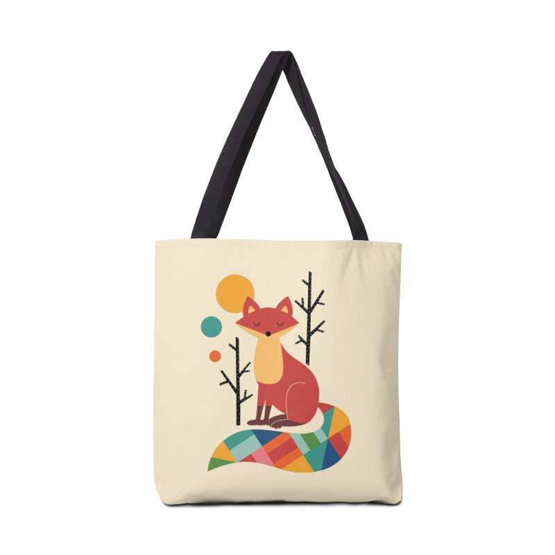 Rainbow Fox Accessories Bag by andywestface's Artist Shop