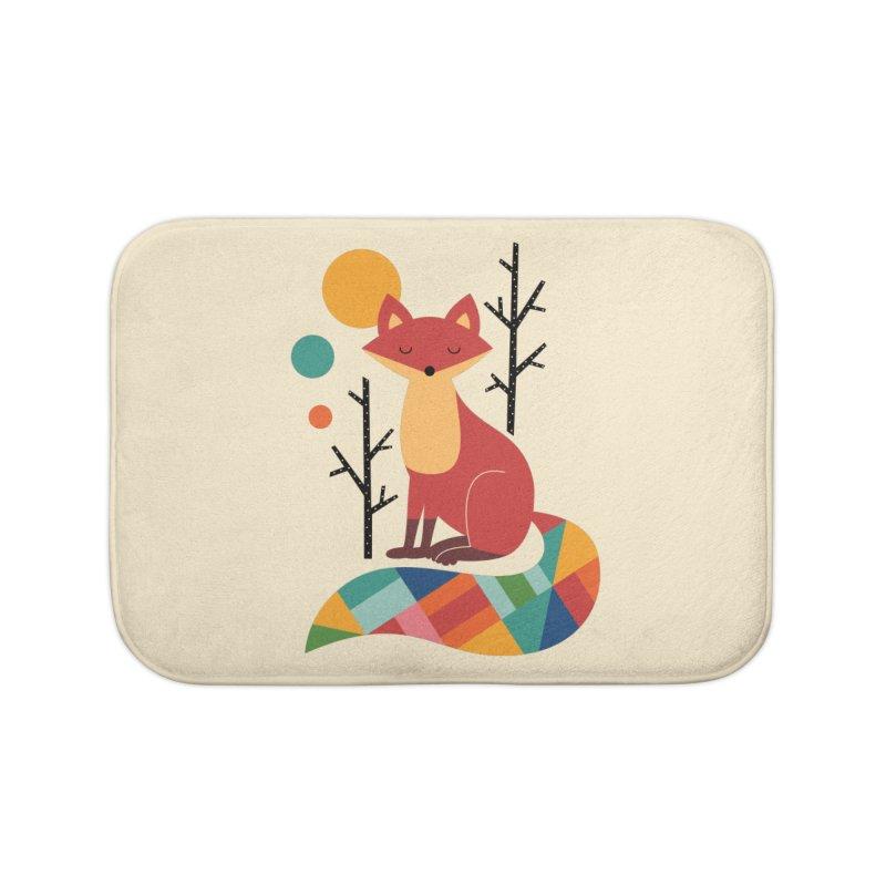 Rainbow Fox Home Bath Mat by andywestface's Artist Shop