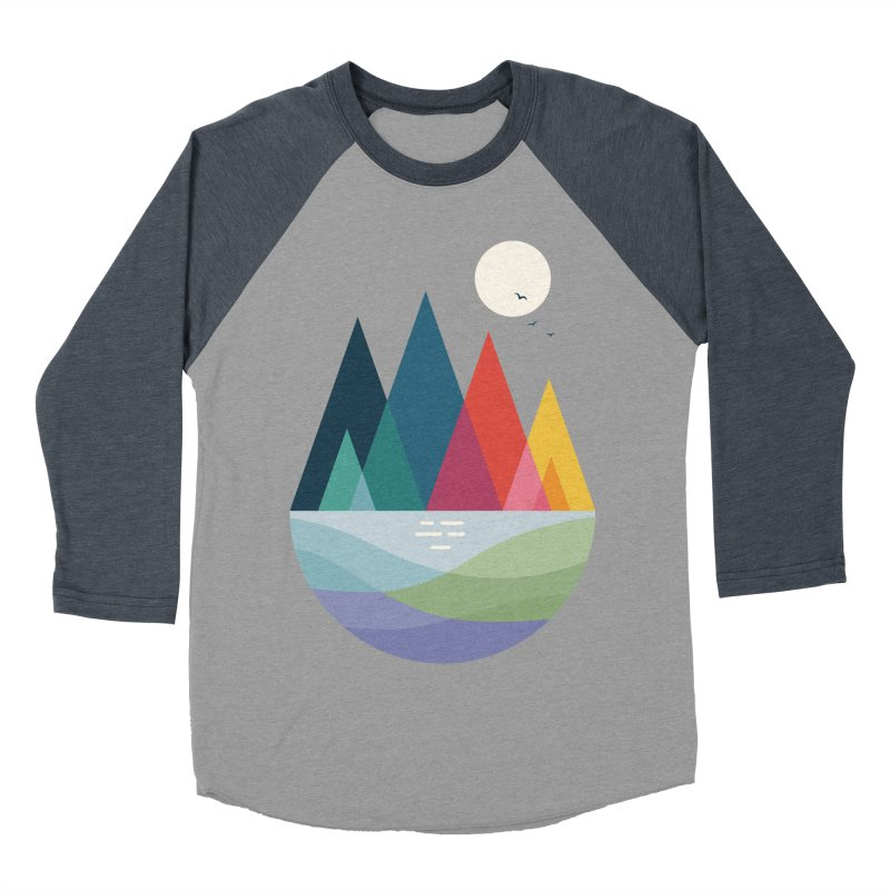Somewhere Women's Baseball Triblend T-Shirt by andywestface's Artist Shop