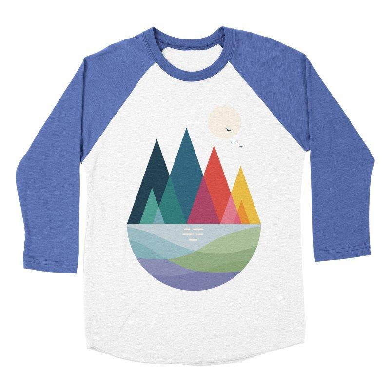 Somewhere Men's Baseball Triblend T-Shirt by andywestface's Artist Shop