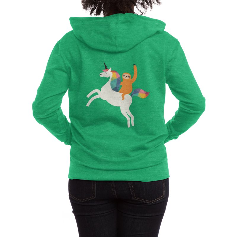 Magic Time Women's Zip-Up Hoody by andywestface's Artist Shop