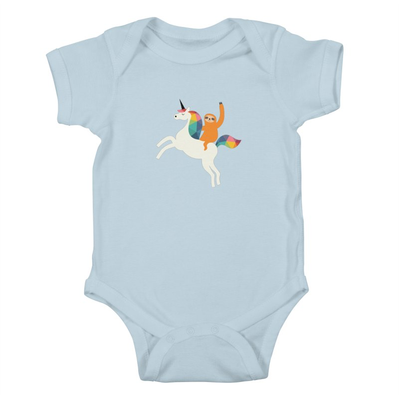 Magic Time Kids Baby Bodysuit by andywestface's Artist Shop