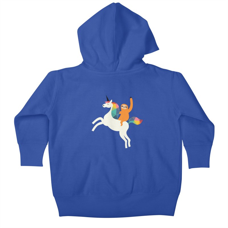 Magic Time Kids Baby Zip-Up Hoody by andywestface's Artist Shop