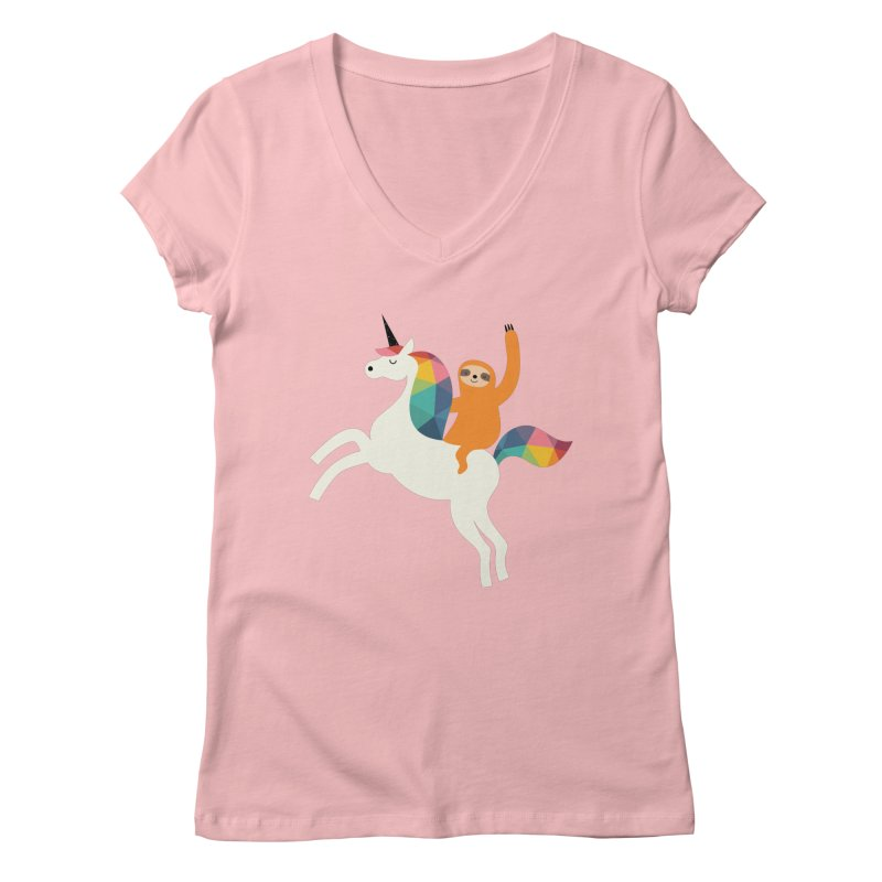 Magic Time Women's V-Neck by andywestface's Artist Shop