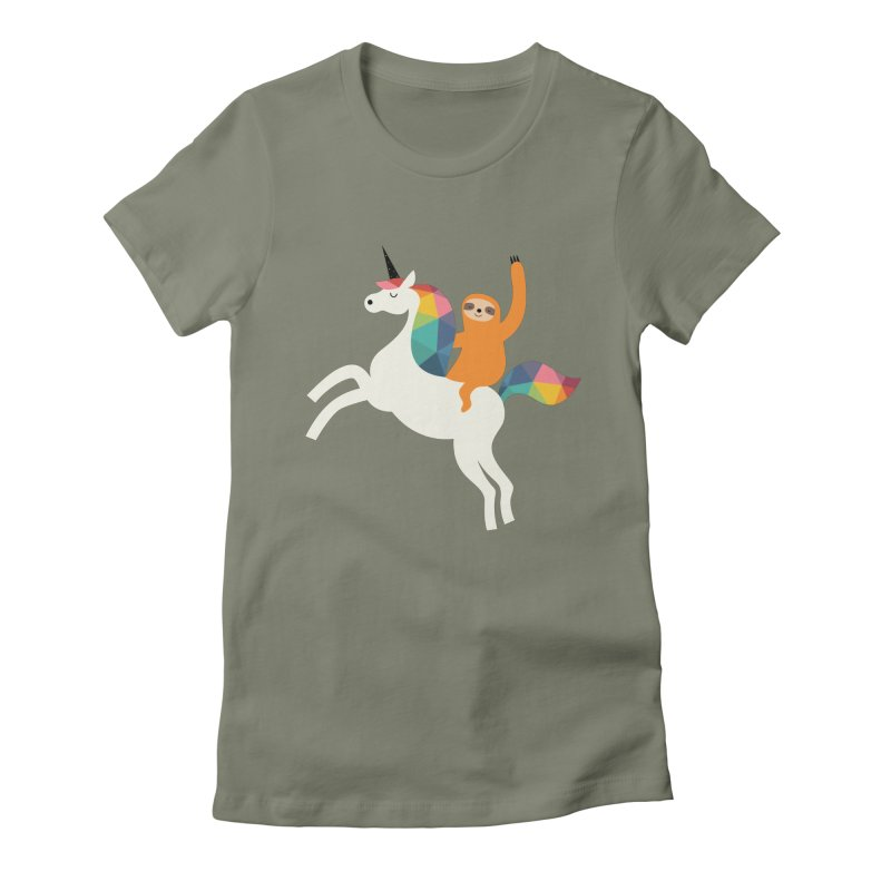 Magic Time Women's Fitted T-Shirt by andywestface's Artist Shop
