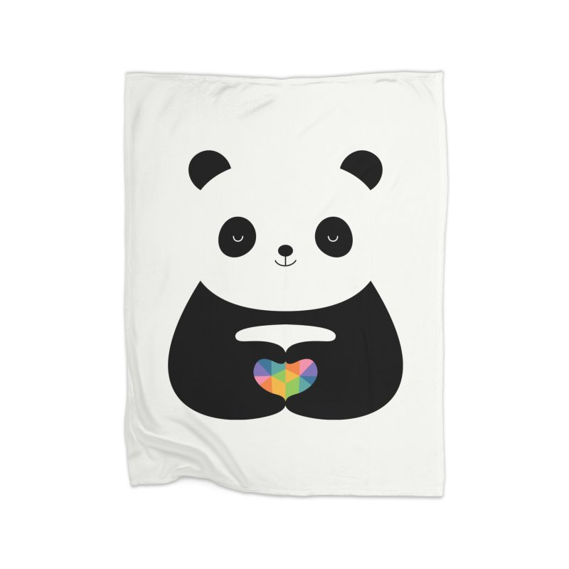 Panda Love Home Blanket by andywestface's Artist Shop