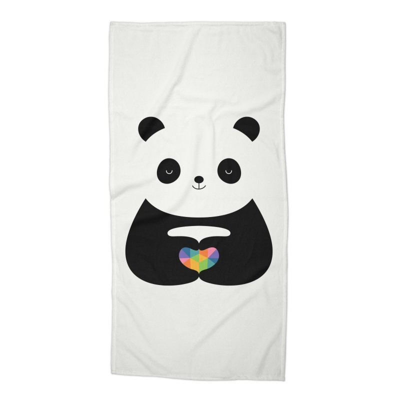 Panda Love Accessories Beach Towel by andywestface's Artist Shop