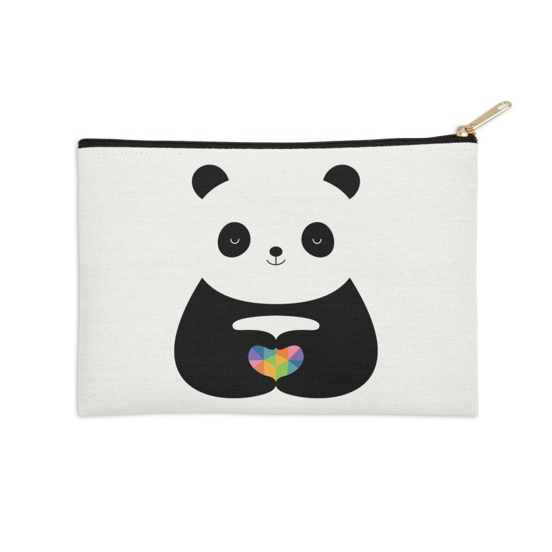 Panda Love Accessories Zip Pouch by andywestface's Artist Shop