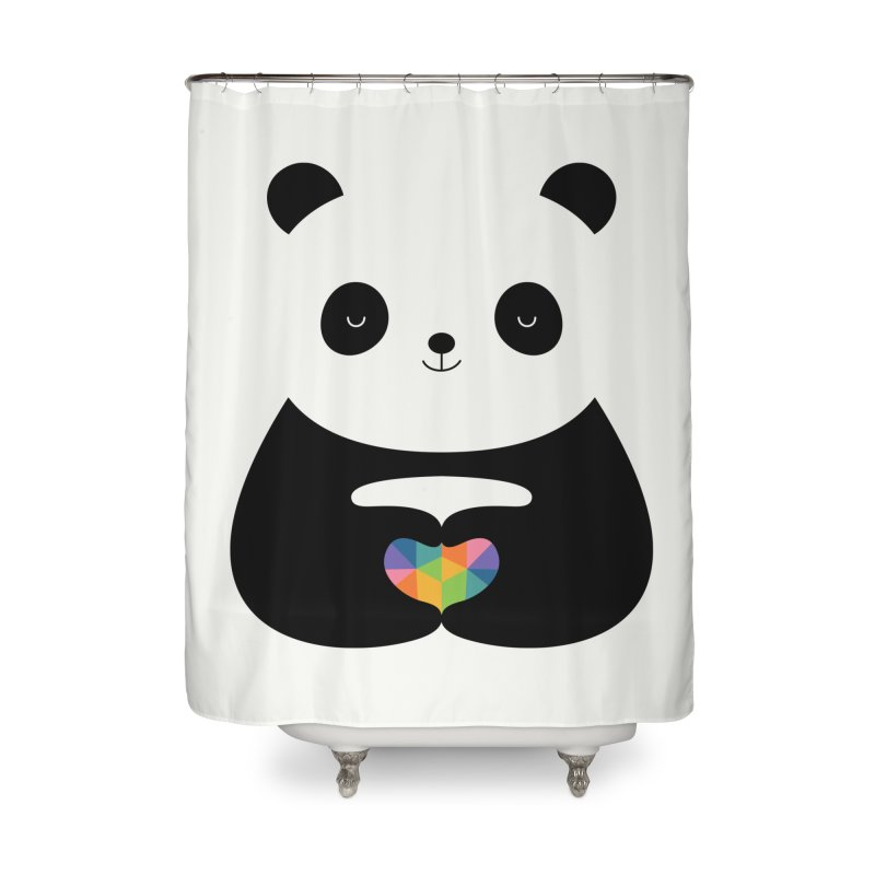 Panda Love Home Shower Curtain by andywestface's Artist Shop