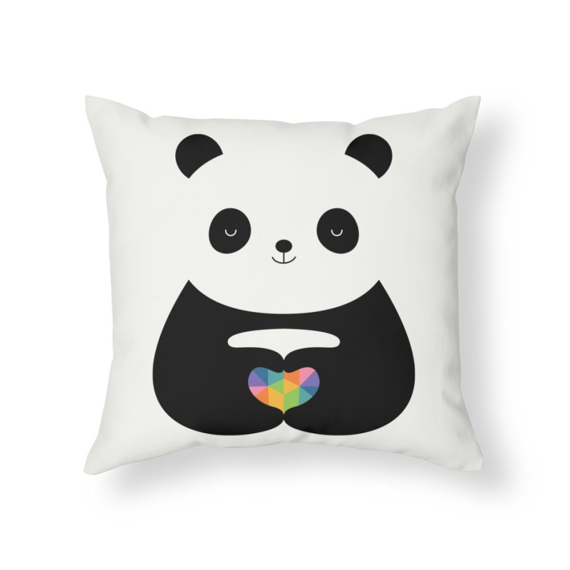 Panda Love Home Throw Pillow by andywestface's Artist Shop