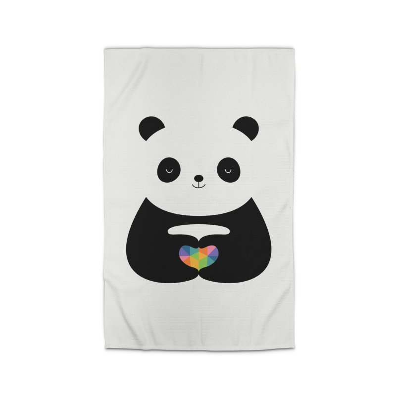 Panda Love Home Rug by andywestface's Artist Shop