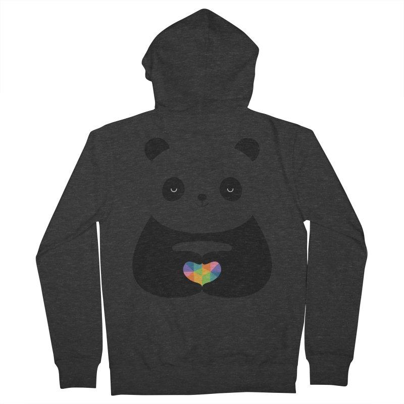 Panda Love Men's Zip-Up Hoody by andywestface's Artist Shop