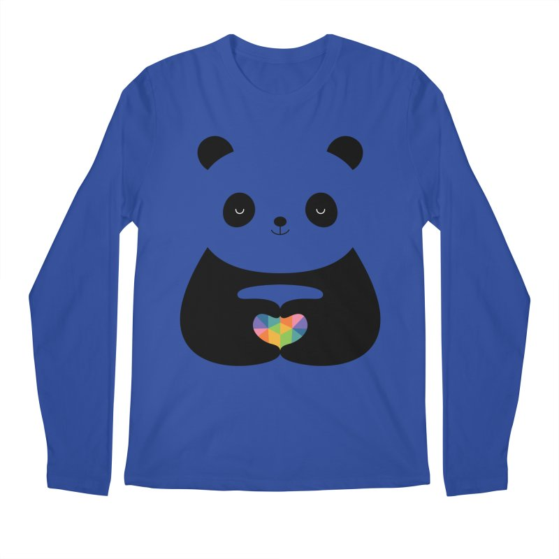 Panda Love Men's Regular Longsleeve T-Shirt by andywestface's Artist Shop