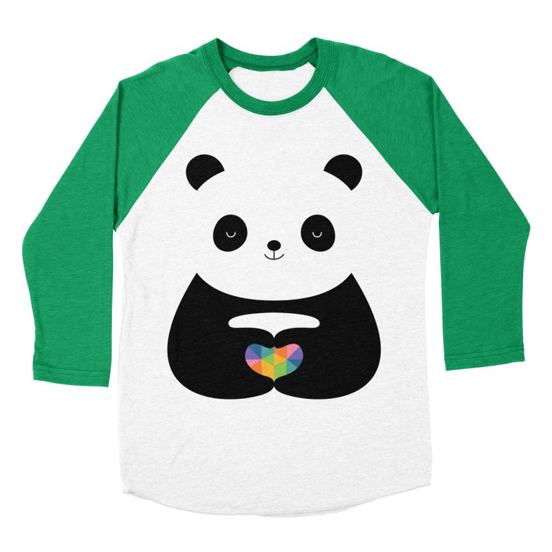 Panda Love Women's Baseball Triblend Longsleeve T-Shirt by andywestface's Artist Shop