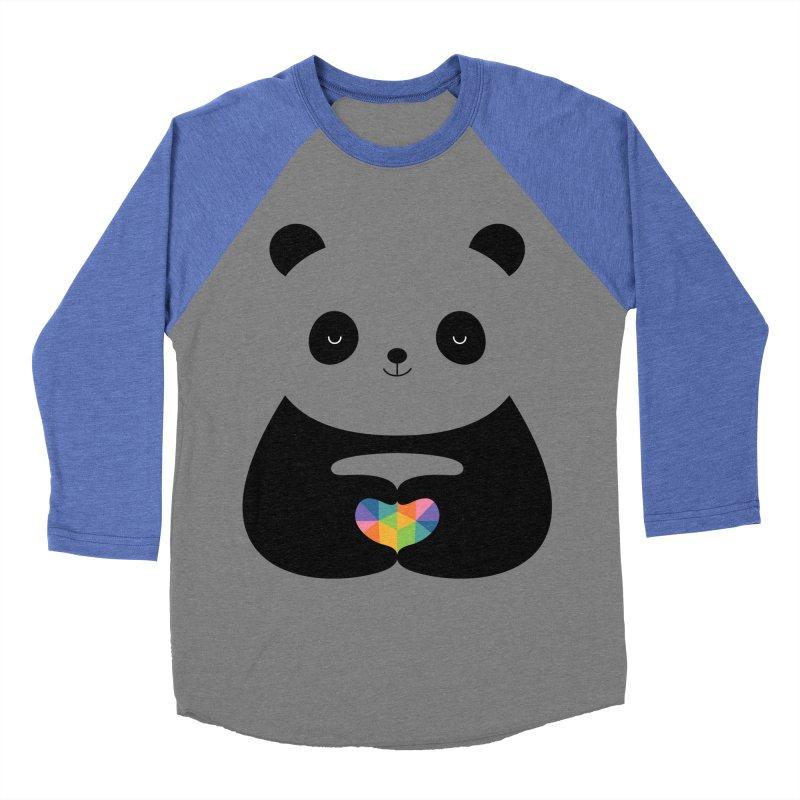 Panda Love Women's Baseball Triblend T-Shirt by andywestface's Artist Shop