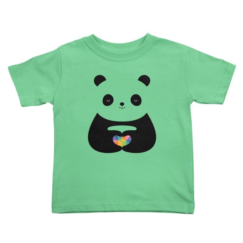 Panda Love Kids Toddler T-Shirt by andywestface's Artist Shop