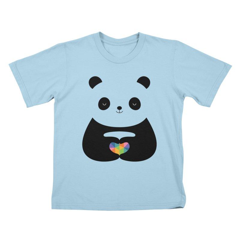 Panda Love Kids T-Shirt by andywestface's Artist Shop