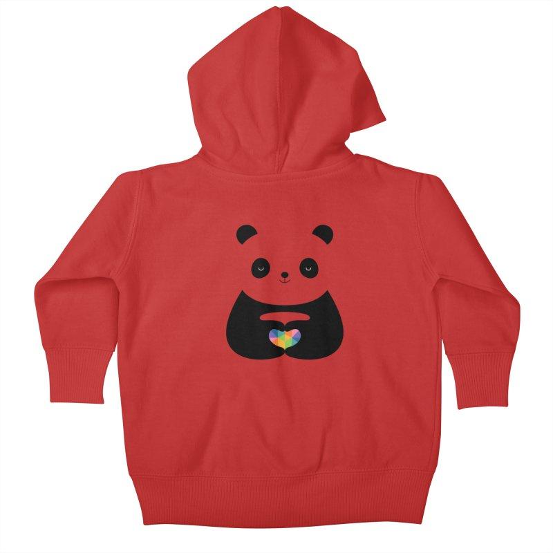 Panda Love Kids Baby Zip-Up Hoody by andywestface's Artist Shop