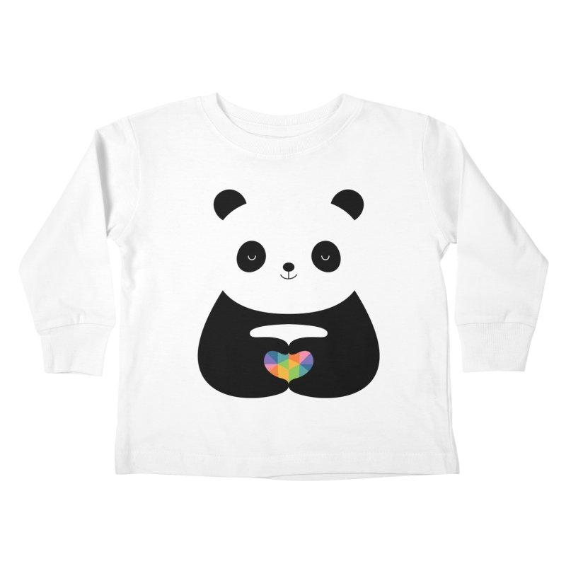 Panda Love Kids Toddler Longsleeve T-Shirt by andywestface's Artist Shop