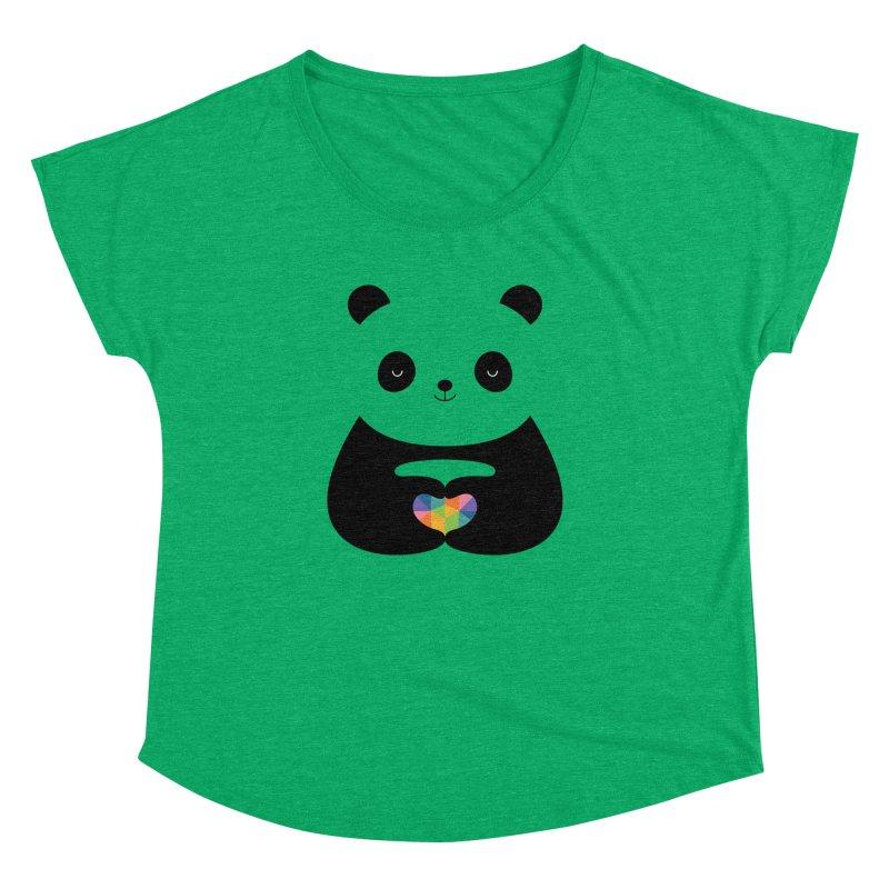 Panda Love Women's Dolman by andywestface's Artist Shop