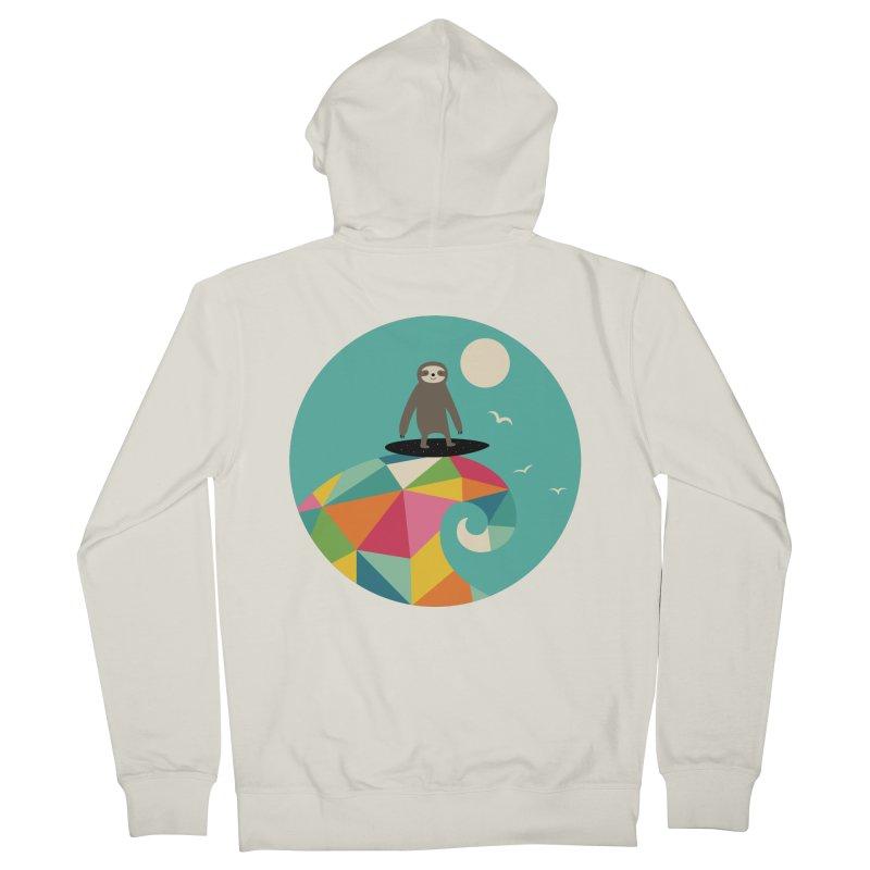 Surfs Up Men's Zip-Up Hoody by andywestface's Artist Shop