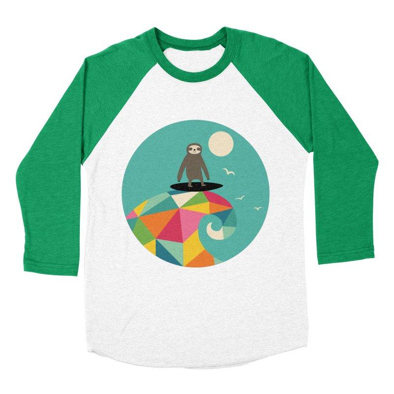 Surfs Up Women's Baseball Triblend T-Shirt by andywestface's Artist Shop
