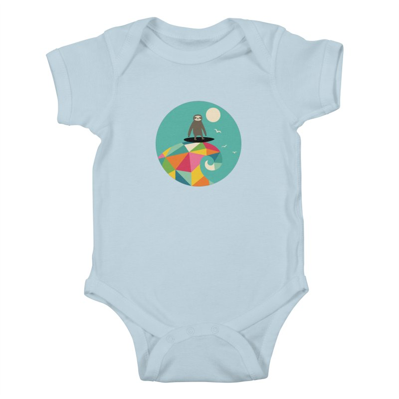 Surfs Up Kids Baby Bodysuit by andywestface's Artist Shop